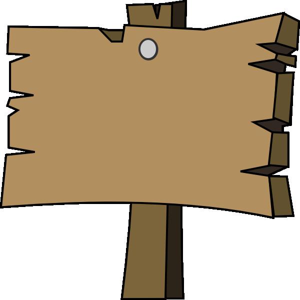 blank wood sign clip art at clkercom vector clip art