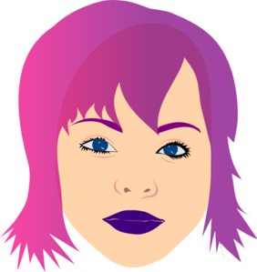 Girl With Purple Hair Clip Art