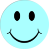 Blue Smiley Face Clip Art