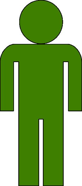 Body Icon Medium Green Clip Art At Clker Com Vector Clip