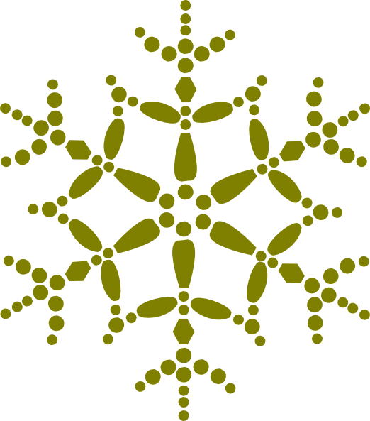 Golden Snowflake Clip Art at Clker.com - vector clip art ...