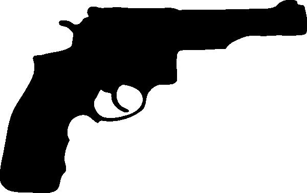 pistol silhouette clip art at clker - vector clip art online