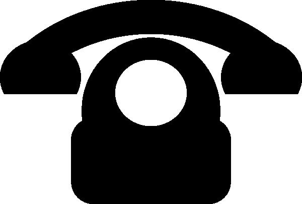 black phone icon clip art at clker com