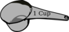 1 Cup Measuring Cup Clip Art