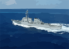 The Guided Missile Destroyer Uss Cole (ddg 67) Underway In The Atlantic Ocean. Clip Art