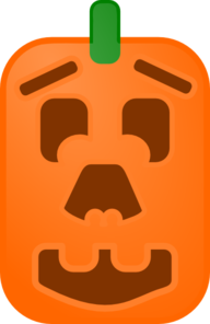 Pumpkin With Face Clip Art
