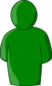 Single User Green Clip Art