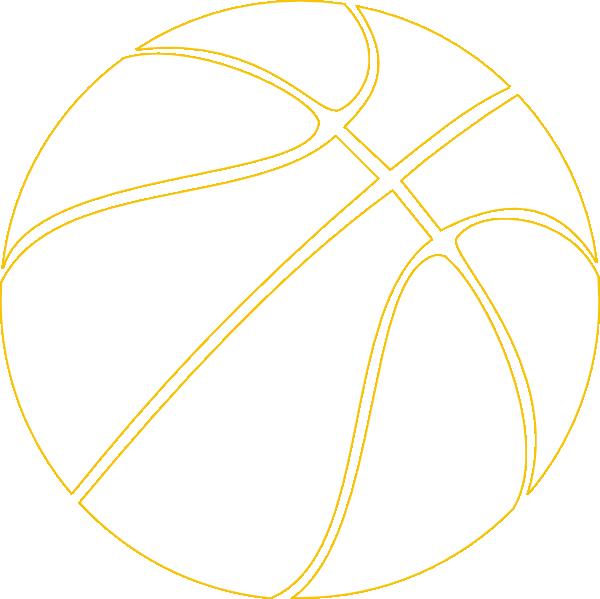 gold outline basketball clip art at clker - vector clip art