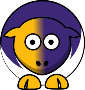 Sheep Albany Great Danes Team Colors - College Football Clip Art
