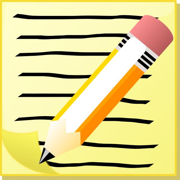 Pencil And Paper Clip Art at Clker.com - vector clip art ...