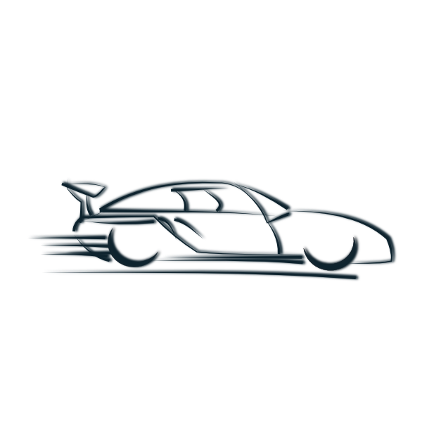 Clipart Car Icon on porsche roadster