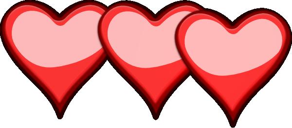 three hearts red clip art at clker com vector clip art pink heart clip art with flame arrow pink heart clip art balloon