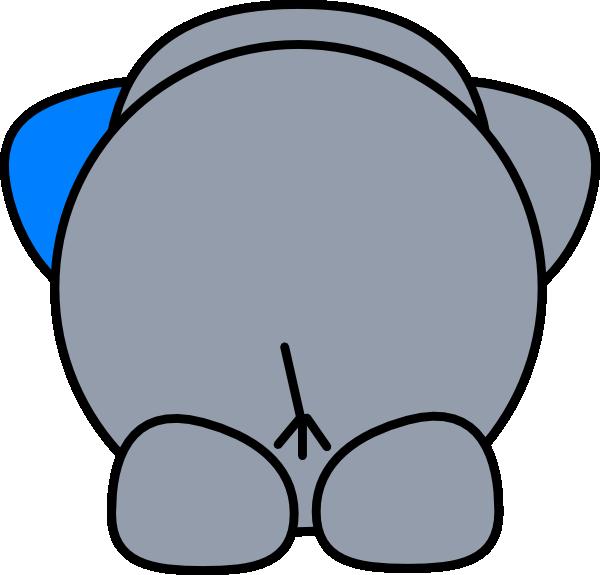 Elephant Butt Clip Art At Clker Com Vector Clip Art