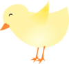 New Spring Chick Clip Art