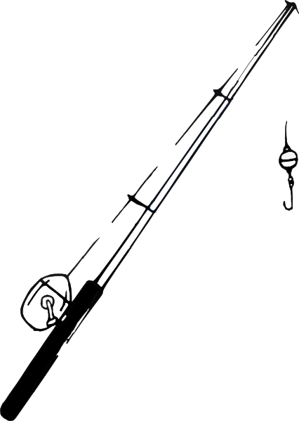 Fishing Pole B And W Clip Art At Clker Com Vector Clip