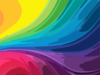 Abstract Rainbow Background Clip Art