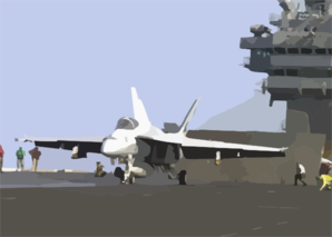 Super Hornet Prepares For Launch From The Flight Deck Of Uss Lincoln Clip Art
