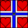 Norway (hearts) Clip Art
