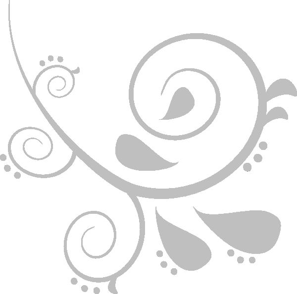 silver swirl clip art at clkercom vector clip art