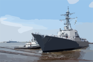 Uss Cole Gets Underway After Completing Repairs. Clip Art