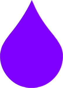 Purple Rain Drop clip art