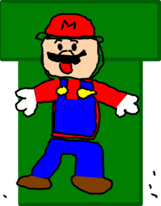 Mario In Warp Pipe Clip Art