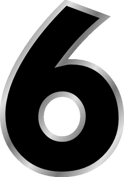 Number 6 Black Clip Art At Clker Com Vector Clip Art