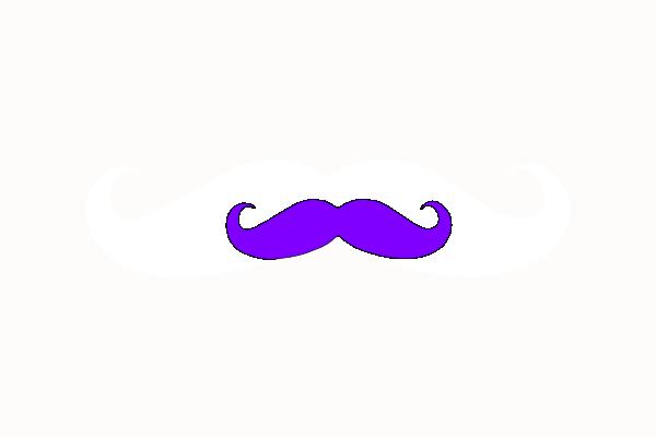 Purple Mustache Clip Art at Clker.com - vector clip art ...