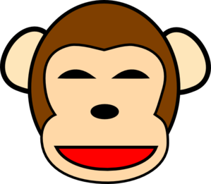 Happy Chimpanzee  Clip Art