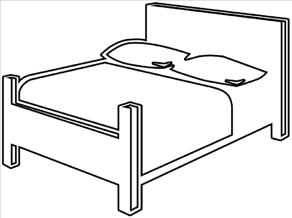 bed outline clip art at clker com
