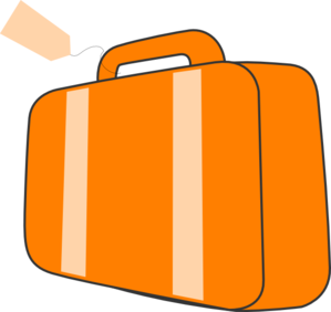 Suitcase - Orange Clip Art