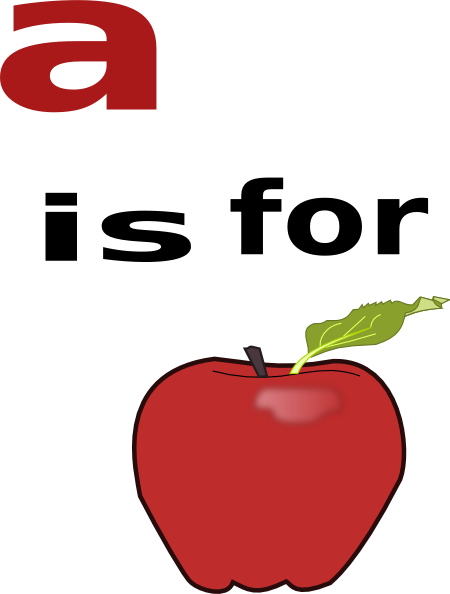 A Is For Apple Clip Art At Clker Com Vector Clip Art Online Royalty Free Public Domain