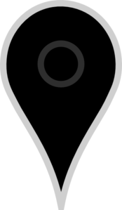 Google Map Pointer Black Clip Art