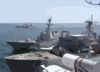 The Military Sealift Command (msc) Fast Combat Support Ship Usns Supply (t-aoe 6) Provides Replenishment Operations With The Guided Missile Destroyer Uss Bulkeley (ddg 84). Clip Art