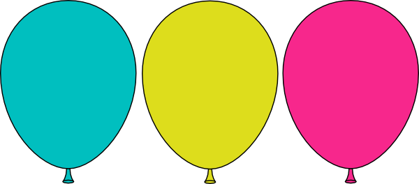 Balloon Trio Clip Art At Clker.com