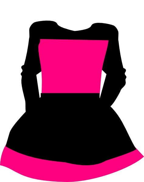 Black & Pink Dress Clip Art at Clker.com - vector clip art ...