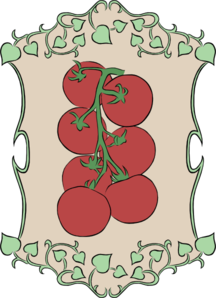 Garden Sign Tiny Tomatos Clip Art