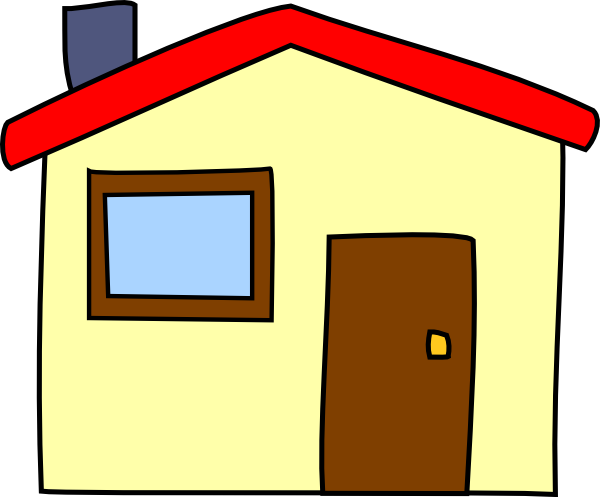 Simple cartoon house clip art at vector clip for Simple house image