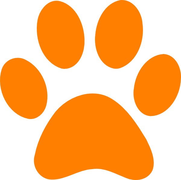 vector Paw Art clip Clip Clker.com - Blues Orange Clues at