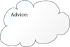 Advice Cloud Clip Art