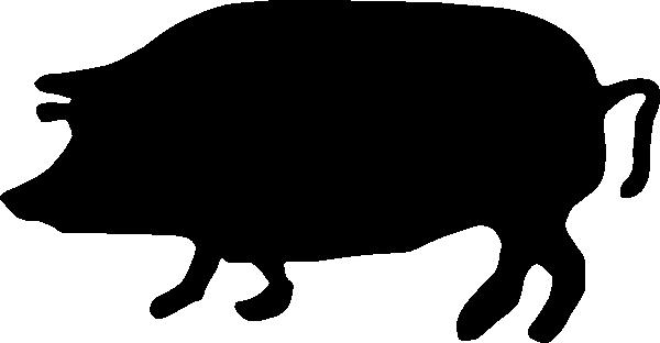 pig silhouette clip art at clker - vector clip art online
