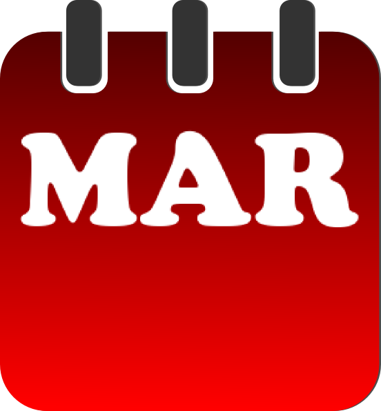 Calendar May Icon : March calendar clip art at clker vector
