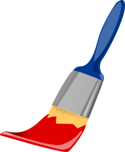 Paint Brush Blue And Red Clip Art at Clker.com - vector ...