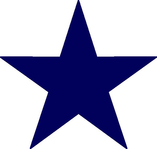 Dark Blue Star Clip Art At Clker Com Vector Clip Art