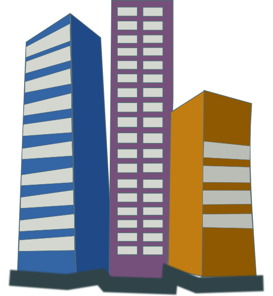 Real Estate High Rise Buildings Clip Art at Clker.com ...