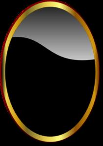 Gold Oval Mirror Clip Art At Clker Com Vector Clip Art