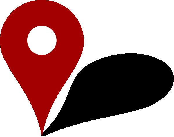 Mapa Y Ubicación Del Logo Azul Mapa Logotipo De: Red Pin Clip Art At Clker.com