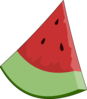 Watermelon Slice Wedge Clip Art