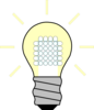 Light Bulb Led On Clip Art