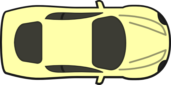Yellow Car Top View Clip Art At Clker Com Vector Clip